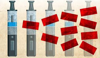 Regulating e-cigarettes Illustration by Greg Groesch/The Washington Times