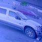 Surveillance footage provided by Kennewick Police Department shows a red pickup truck being stolen at 6:00 a.m., Aug. 25, 2019. The Washington man who reported the truck stolen was subsequently arrested and charged with burglary of a nearby business. (Image: Kennewick Police Department, Facebook, surveillance footage screenshot)