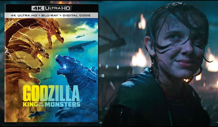 "Millie Bobby Brown cowers in ""Godzilla: King of the Monsters,"" now available on 4K Ultra HD from Warner Bros. Home Entertainment."