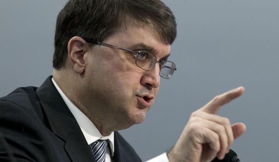 In this Tuesday, Feb. 26, 2019, file photo, Veterans Affairs Secretary Robert Wilkie testifies on Capitol Hill in Washington. (AP Photo/Jose Luis Magana, File)