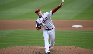 Washington Nationals starting pitcher Patrick Corbin delivers a pitch during the fifth inning of a baseball game against the Miami Marlins, Sunday, Sept. 1, 2019, in Washington. (AP Photo/Nick Wass)