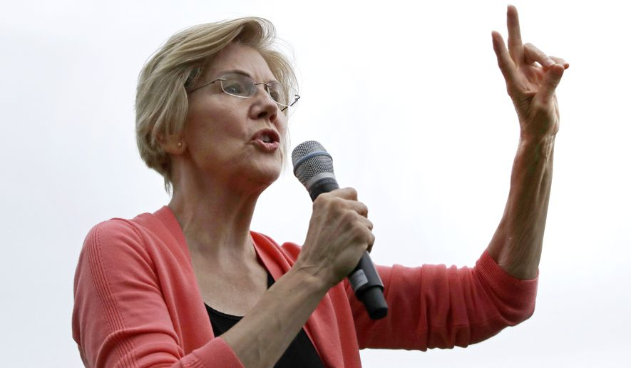 Democratic presidential candidate Sen. Elizabeth Warren, D-Mass. is shown on the campaign trail on Sept. 2, 2019, in Hampton Falls, N.H. (AP Photo/Elise Amendola) **FILE**