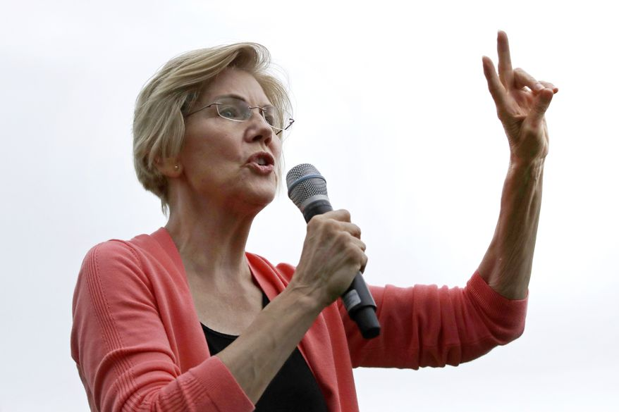 Democratic presidential candidate Sen. Elizabeth Warren, D-Mass. is shown on the campaign trail on Sept. 2, 2019, in Hampton Falls, N.H. (AP Photo/Elise Amendola) **FILE**