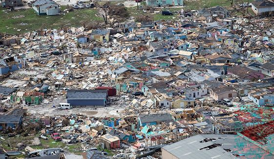 Hurricane Dorian devastated the Bahamas earlier this week. At least seven people have died because of the storm. The prime minister expected that number to climb higher. (ASSOCIATED PRESS)