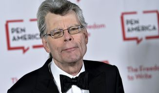 "In this May 22, 2018 file photo, author Stephen King attends the 2018 PEN Literary Gala at the American Museum of Natural History in New York. The film ""It: Chapter Two,"" is based on King's book. (Photo by Evan Agostini/Invision/AP, File)"
