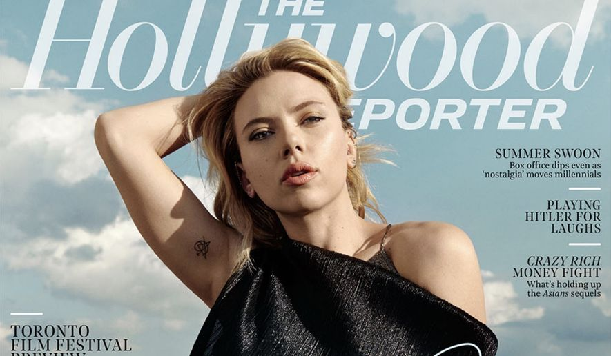 Actress Scarlett Johansson appears on The Hollywood Reporter's September 2019 cover. (Image: The Hollywood Reporter)