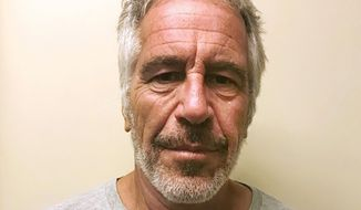 This March 28, 2017, file photo, provided by the New York State Sex Offender Registry shows Jeffrey Epstein. A judge is expected to discuss plans for the unsealing of more court records in a civil case involving sexual abuse claims against the financier Epstein. The hearing in Manhattan federal court Wednesday, Sept. 4, 2019, was ordered after a federal appeals court in New York ordered U.S. District Judge Loretta Preska to release the records after considering the privacy interests of third-parties. (New York State Sex Offender Registry via AP, File)