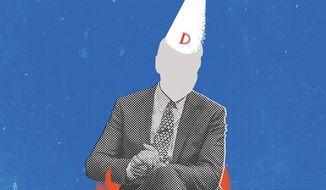 Illustration on Joe Biden by Linas Garsys/The Washington Times