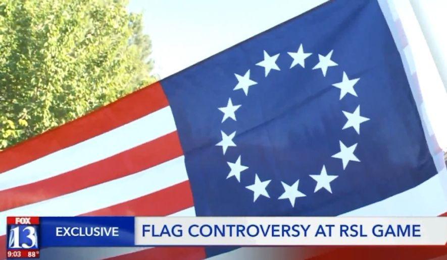 "Major League Soccer's Real Salt Lake has banned people from waving the Betsy Ross flag at games, claiming that the Colonial-era flag design has been ""adopted as a symbol for hate groups"" and doesn't fit with the team's mission of inclusiveness. (FOX13)"