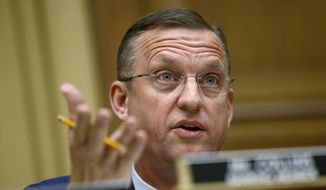 In this May 21, 2019, file photo, Rep. Doug Collins, R-Ga., ranking member of the House Judiciary Committee, speaks during a hearing without former White House Counsel Don McGahn on Capitol Hill in Washington. (AP Photo/Patrick Semansky, File)