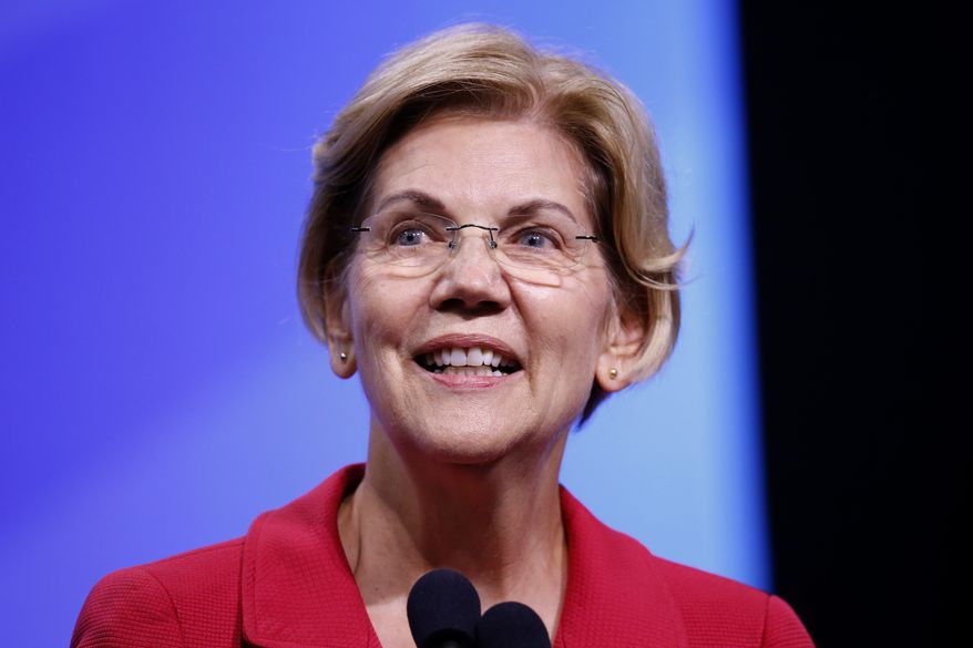 Democratic presidential candidate Sen. Elizabeth Warren, D-Mass., speaks at the New Hampshire state Democratic Party convention, Saturday, Sept. 7, 2019, in Manchester, NH. (AP Photo/Robert F. Bukaty)