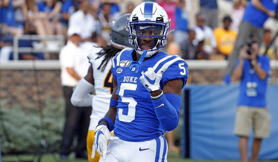 Harris accounts for 5 TDs as Duke rolls to victory