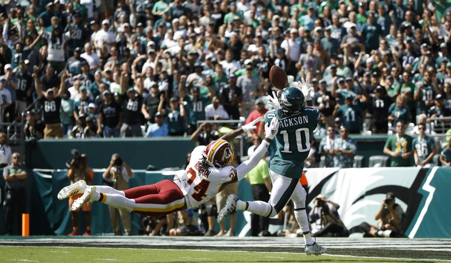 Wentz, Jackson show off Eagles' dynamic offense - Washington
