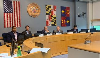 Montgomery County Council's Public Safety Committee met Sept. 9 to iron out the details of a new Policing Advisory Commission, which will aim to improve relations between the community and the county police department. (Sophie Kaplan/The Washington Times)