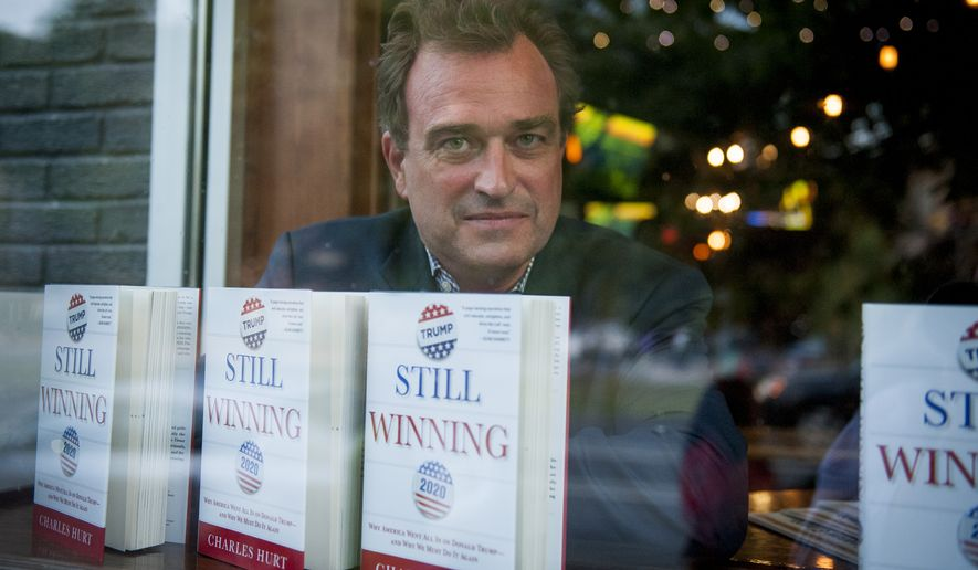 """Washington Times reporter Charlie Hurt takes time for a portrait during a book party for his book """"Still Winning"""" at Tune Inn, in Washington, DC, Tuesday, September 10, 2019. (Photo by Rod Lamkey Jr.)"""