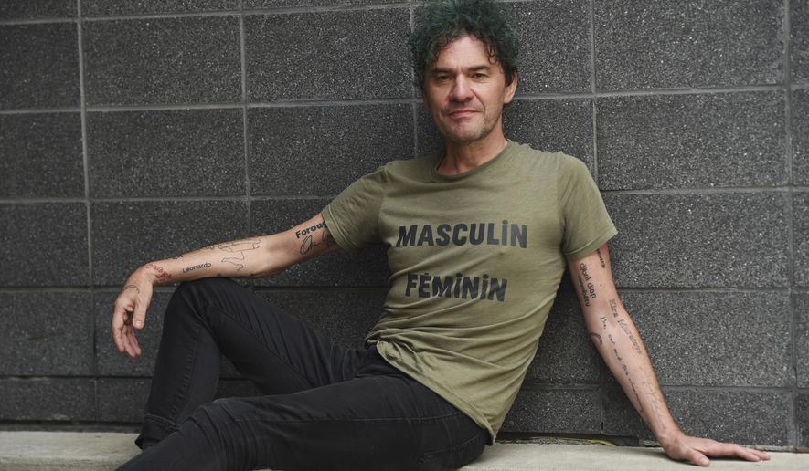 """This Sept. 7, 2019 photo shows Mark Cousins, writer/director of the documentary film """"Women Make Film,"""" posing for a portrait during the Toronto International Film Festival in Toronto. (Photo by Chris Pizzello/Invision/AP)"""