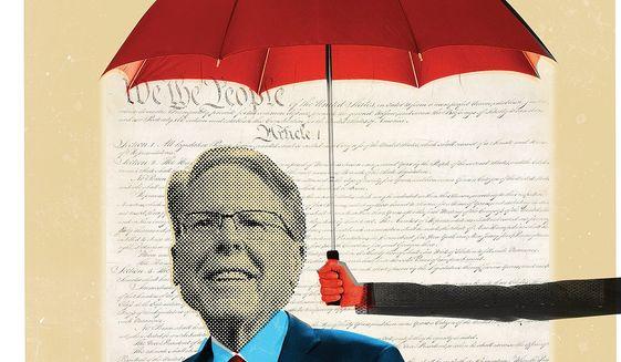 NRA leadership illustration by Linas Garsys