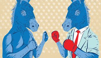 Democrats in Round Three of the Debates Illustration by Linas Garsys/The Washington Times