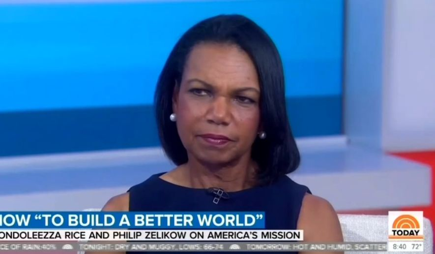 Condoleezza Rice quashes NBC anchor's suggestion that Russia