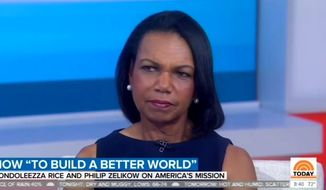 "Former Secretary of State Condoleezza Rice appears on NBC's ""Today"" show, Sept. 11, 2019. (Image: NBC, ""Today"" show screenshot)"