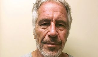 This March 28, 2017, file photo, provided by the New York State Sex Offender Registry shows Jeffrey Epstein. A previously undisclosed federal investigation into Epstein included an examination of whether he was traveling with underage girls as recently as 2018, newly released documents show. In July 2019, U.S. Marshals Service investigators spoke with an air-traffic controller who said she saw Epstein get off his private jet at an airport near his U.S. Virgin Islands retreat with two girls who appeared to be 11 or 12, according to the documents. (New York State Sex Offender Registry via AP, File)