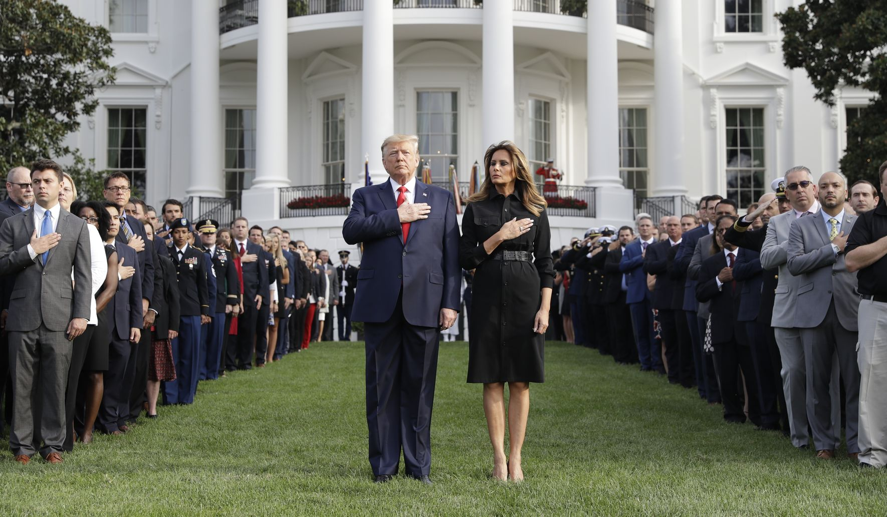 Trump, Congress observe moment of silence on 9/11 anniversary