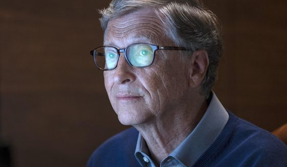 "This image released by Netflix shows billionaire philanthropist Bill Gates in a scene from ""Inside Bill's Brain: Decoding Bill Gates,"" streaming Sept. 20. (Saeed Adyani/Netflix via AP)"