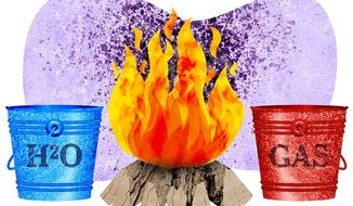 Fire Bucket Choice Illustration by Greg Groesch/The Washington Times