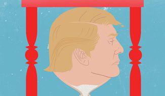 Illustration on Trump outlasting Xi by Linas Garsys/The Washington Times