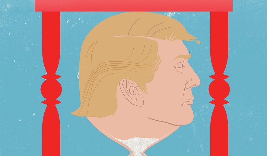 Illustration on Trump outlasting Xi by Linas Garsys/The Washington Times