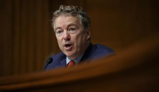 In this March 5, 2019, file photo, Sen. Rand Paul, R-Ky., speaks during a Senate Committee on Health, Education, Labor, and Pensions hearing on Capitol Hill in Washington. (AP Photo/Carolyn Kaster, File)