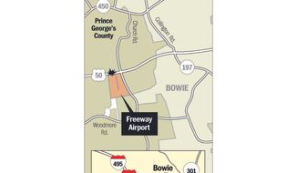 Since 1983, there have been 26 incidents at Freeway Airport, according to FAA data. (The Washington Times)