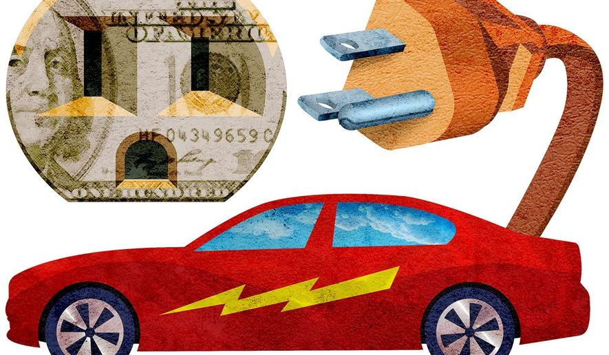Pay to Play Electric Cars Illustration by Greg Groesch/The Washington Times