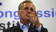 House Minority Leader Kevin McCarthy R-Calif., speaks during a news conference at the 2019 House Republican Conference Member Retreat in Baltimore, Friday, Sept. 13, 2019. (AP Photo/Jose Luis Magana)