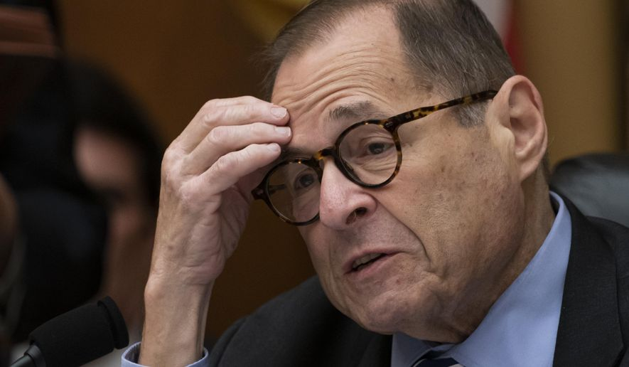 House Judiciary Committee Chairman Jerrold Nadler, D-N.Y., leads his panel to approve guidelines for impeachment investigation hearings on President Donald Trump, on Capitol Hill in Washington, Thursday, Sept. 12, 2019. (AP Photo/J. Scott Applewhite)