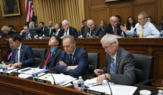 House Judiciary Committee members debate amendments as the panel moved to approve guidelines for impeachment hearings on President Donald Trump, on Capitol Hill in Washington, Thursday, Sept. 12, 2019. (AP Photo/J. Scott Applewhite)