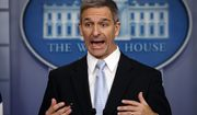 In this Aug. 12, 2019, file photo, acting Director of United States Citizenship and Immigration Services Ken Cuccinelli speaks during a briefing at the White House, Monday, Aug. 12, 2019, in Washington.  (AP Photo/Evan Vucci, File)