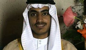 In this image from video released by the CIA, Hamza bin Laden, the son of of the late al-Qaida leader Osama bin Laden is seen as an adult at his wedding.  The White House says Hamza bin Laden has been killed in a U.S. counterterrorism operation in the Afghanistan-Pakistan region. A White House statement gives no further details, such as when Hamza bin Laden was killed or how the United States confirmed his death. (CIA via AP) **FILE**