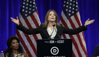 Author Marianne Williamson speaks at the Democratic National Committee's summer meeting in San Francisco. (AP Photo/Ben Margot, File)