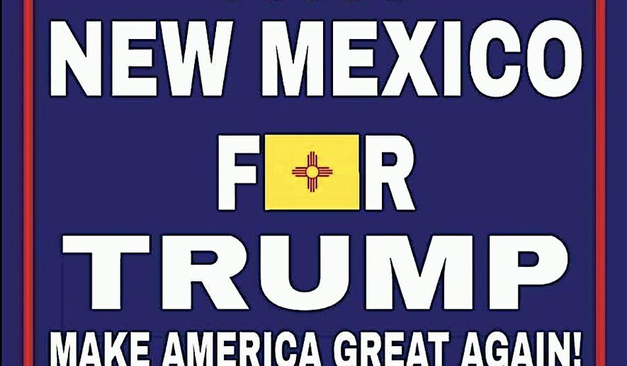 President Trump heads for Albuquerque, New Mexico, on Monday, to be greeted by protesters, along with those who hope the Republican Party can flip the state to their side. (New Mexico Republican Party)