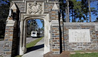 Duke University and the University of North Carolina have been straying from the point of federal grant goals with their Middle East studies program, which is to bolster national security, officials say. (ASSOCIATED PRESS)