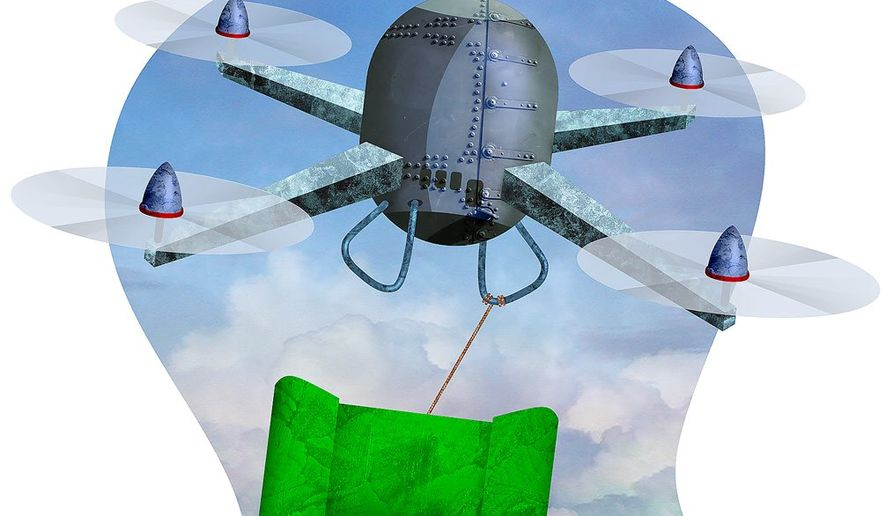 Iran Drone Attack Illustration by Greg Groesch/The Washington Times