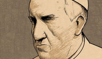 Illustration on Pope Francis by Paul Tong/Tribune Content Agency