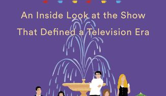 "This cover image released by Dutton shows ""Generation Friends: An Inside Look at the Show That Defined a Television Era"" by Saul Austerlitz (Dutton via AP)"