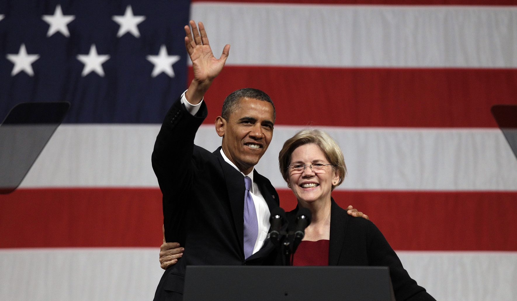 Elizabeth Warren challenges Joe Biden as Obama legacy heir