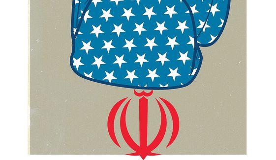 Trump Iran action illustration by Linas Garsys