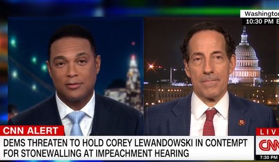 """CNN host Don Lemon discusses the first """"impeachment"""" hearing by House Judiciary Democrats, Sept. 17, 2019. (Image: CNN video screenshot)"""
