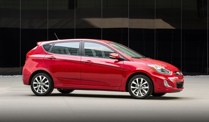 This undated photo provided by Hyundai shows the 2017 Hyundai Accent, a compact car that might be found for sale on rental car lots for about 12% less than at the average dealership. (Hyundai Motor America via AP)
