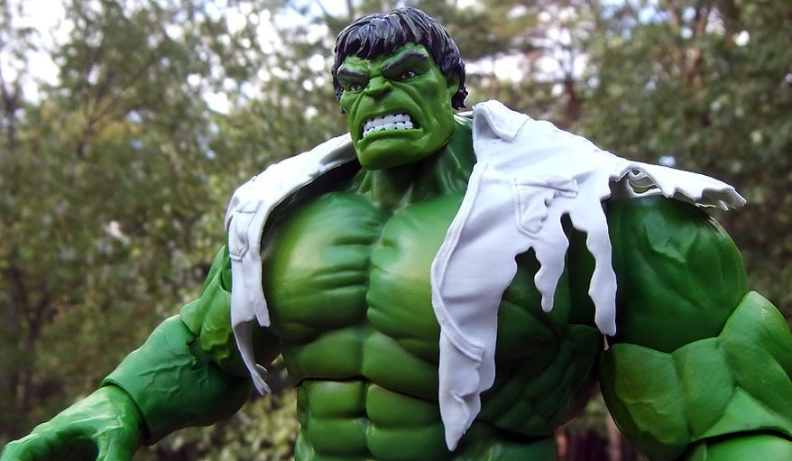 Hasbro's Marvel Legends 80th Anniversary collection includes a classic and ferocious version of the Hulk. (Photograph by Joseph Szadkowski / The Washington Times)