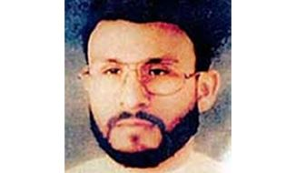 """This undated file photo provided by U.S. Central Command shows Abu Zubaydah, date and location unknown. A federal appeals court hearing the case of a Guantanamo Bay inmate who was subjected to brutal treatment by the CIA after being detained following the 9/11 attacks took the rare step of calling """"enhanced interrogation techniques"""" torture. The Ninth U.S. Court of Appeals in San Francisco said in a ruling Wednesday, Sept. 18, 2019, allowing Abu Zubaydah's lawyers to question two former CIA contractors that the Palestinian man """"was tortured."""" (U.S. Central Command via AP, File)"""